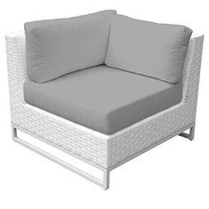 TK Classics TKC047b-CS-GREY Miami Corner Sofa with 2 Covers: Sail White and