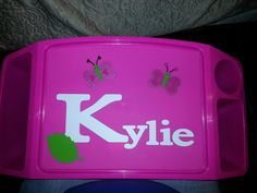 Hey, I found this really awesome Etsy listing at http://www.etsy.com/listing/164517822/childs-personalized-lap-tray-with-cup
