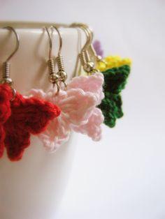 Just done the order of crochet earrings Crochet Jewellery, Crochet Earrings, Learn To Crochet, Knit Crochet, Crochet Ideas, Crochet Patterns, Jewelry Crafts, Handmade Jewelry, Crochet Butterfly