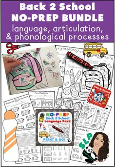 No time to prep? No problem! NO-Prep resource BUNDLE for language, articulation, and phonological processes!