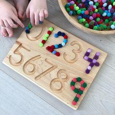 Nice present for a child learning numbers Preschool Education, Preschool Lessons, Preschool Math, Kindergarten Math, Montessori Activities, Classroom Activities, Learning Activities, Preschool Activities, Maths Eyfs