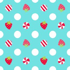 strawberry dot fabric by katarina on Spoonflower - custom fabric