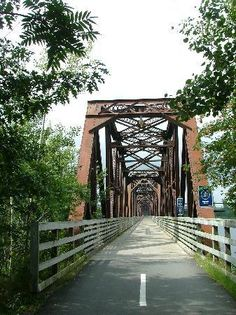 Old Railway Bridge Across the St. John's River, Fredericton, New Brunswick, Canada.now a pedestrian hiking trail Saint John New Brunswick, New Brunswick Canada, Fredericton New Brunswick, Canadian Travel, Atlantic Canada, O Canada, Prince Edward Island, Covered Bridges, St John's