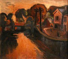 'Pen-y-Bont Inn', Ystradgynlais Josef Herman (1911–2000)