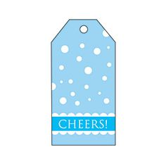 Blue Snow Gift Tag | MyRecipes.com