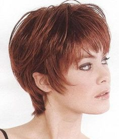 Short Hairstyles for Women Over 40 with Bangs | nice hairstyle blog: Layered Short Hairstyles