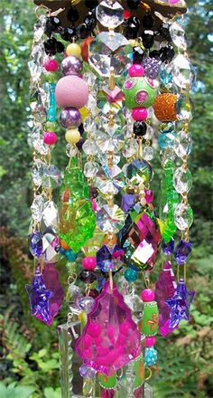 Gorgeous crystal wind chime