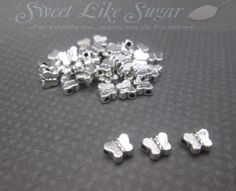 75 Silver Tone Butterfly Spacers CA. Starting at $5 on @Tophatter.com!