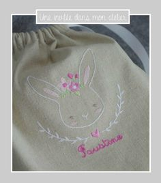 petit sac-chasse à l'oeuf-Pâques-lapin