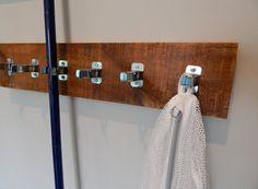 Hanging Utility Rack - Broom and Mop Holder - Laundry Garage Kitchen Organizer $21.00+
