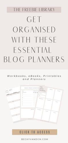 Blog Planner Printable, Planner Template, Free Printables, Social Media Planner, Blog Planning, Business Planner, Planer, Logo Design, Identity Design