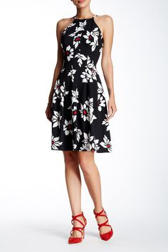 Adrianna Papell | Daisy Floral Fit & Flare Dress | Nordstrom Rack