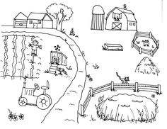 The Atmosphere At The Farm Coloring Pages