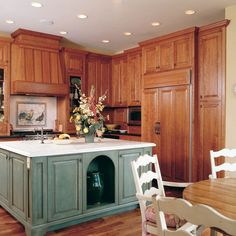 Country French House Plan Kitchen Photo 01 - 011S-0036 | House Plans and More