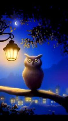Mensagem de boa noite lindinha, é sempre bom dar boa noite a todos que amamos! Good Night Greetings, Good Night Wishes, Good Night Gif, Night Time, Gift Animation, Gato Gif, Animated Gifs, Owl Always Love You, Nighty Night