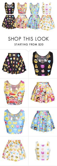 """Emoji Dress"" by clairestone ❤ liked on Polyvore"