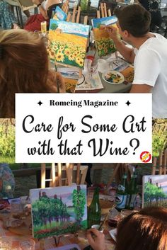 Care for some art with that wine? Lauren Lombardo teaches normal people how to paint spectacular works of art on canvas, for a small price. Classes are every other Monday in Rome and allow for wine, appetisers, socialising, and a masterpiece/take home souvenir at the end of the class! Learn about the class here and sign up! @romeing
