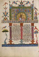 An Armenian Bible, illuminated by Malnazar, Armenian) illuminator.