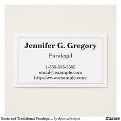 Minimalist and plain paralegal business card pinterest paralegal basic and traditional paralegal business card colourmoves