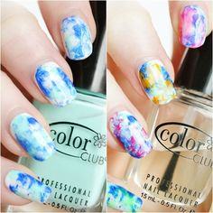 Water color nails