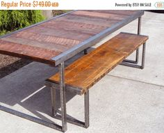 Last Chance Sale 10% OFF. 5 ft Industrial by MtHoodWoodWorks