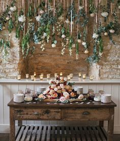 """375 Likes, 6 Comments - Wedding Ideas (@weddingideas) on Instagram: """"We're not sure what we love more, the hanging flowers or the tower of scones …"""""""