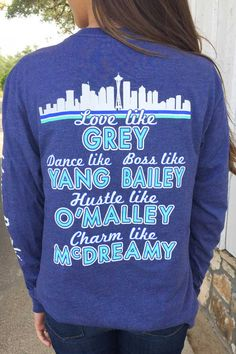 Women's Heather Navy You Are My Person Long Sleeve Tee Greys Anatomy Workout, Greys Anatomy Shirts, Greys Anatomy Characters, Greys Anatomy Facts, Grey Anatomy Quotes, Grays Anatomy, Grey's Anatomy Clothes, Grey's Anatomy Merchandise, You Are My Person