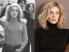 Catherine Deneuve and Chiara Mastroianni - Here, mother-daughter beauty means a rumpled blonde mane, finely arched brows, and a poreless complexion.