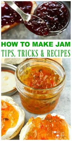 How to make Jam step by step! It's so much easier than you think and the results are delicious! Check this out for canning 101 basics and easy jam recipes. Homemade jam is 100 times better than store-bought - everyone loves it! If you're looking for a qui Pressure Cooker Chicken, Pressure Cooker Recipes, Pressure Cooking, Jelly Recipes, Jam Recipes, Canning 101, Canning Recipes, Easy Jam Recipe, Strawberry Freezer Jam