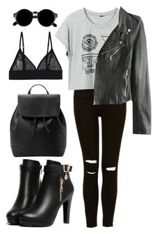 """""""SheIn: Nightmare"""" by dindaads2 ❤ liked on Polyvore featuring moda, MANGO, Monki ve Retrò"""