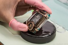 The movement of the Christophe Claret X-TREM-1, now safely ensconced in its Chocolate case