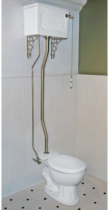Image Result For 1940s Bathroom Wall Hung Toilet Tank With Chain