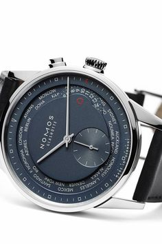 Zurich Worldtimer true blue by NOMOS Glashütte edited by classy-captain This new elegant luxury timepiece makes traveling fun again. Thanks to the new NOMOS swing system it knows nearly every time zone in the world and reveals the time in a push of a button. Around the globe in 24 clicks! Price: 4200 EUR