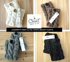 knitted-boot-cuffs - Google Search