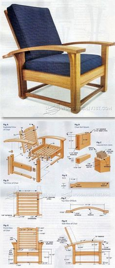 Morris Chair Plans - Furniture Plans and Projects | WoodArchivist.com #woodworkingplans #WoodWorkingIdeasProjects #furnitureplans