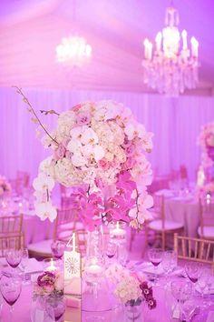 Fabulous #centerpieces #pink #uplighting #wedding #reception ! #diy #diywedding #weddingideas #weddinginspiration #ideas #inspiration #rentmywedding #celebration #party #weddingplanner #weddingplanning #eventplanner #eventplanning #dreamwedding By #FleurLeCordeur