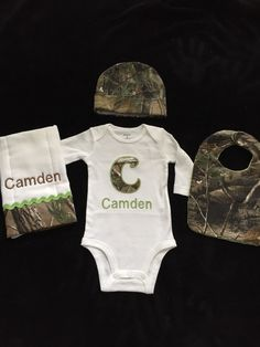 Real tree camo baby boy personalized 6 piece gift set bodysuite real tree or mossy oak orange or green camo baby boy personalized 4 piece gift set negle Image collections