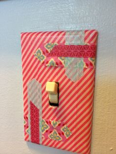 Washi Tape Light Switch Covers! So easy!