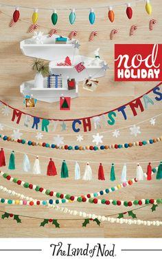 Greet the season in style with our array of holiday garland. With a selection that includes festive, colorful styles you won't find anywhere else, we have a very merry match for any kind of holiday décor.