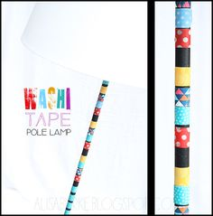 Washi Tape Pole Lamp DIY