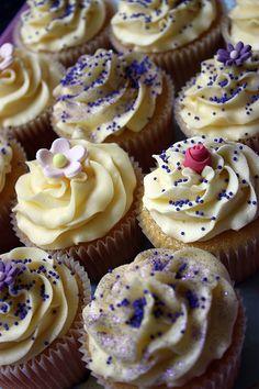 Sprinkled Vanilla Cupcakes