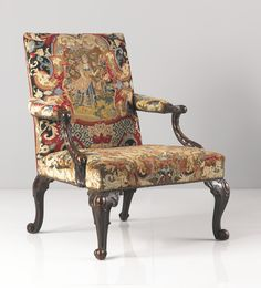 A George III needlework-upholstered mahogany library armchair circa 1760 | Lot | Sotheby's