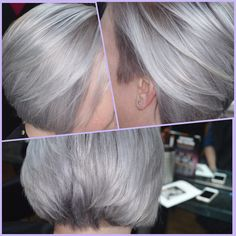 Ever changing always gorgeous Bed Hair, Glossy Hair, Ash Blonde, Silver Hair, Pink Hair, Shaving, Bob, Hair Styles, Beauty
