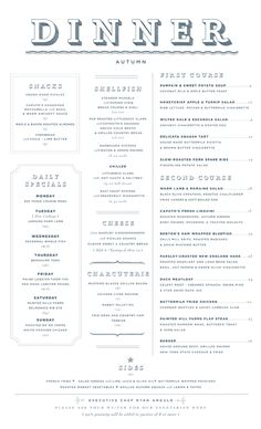 Art of the Menu: Buttermilk Channel