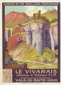 PLM - Le Vivarais - Vals-les-Bains - Ardèche - illustration de Julien Lacaze - France -