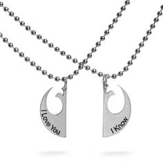 I Love You/I Know Necklace