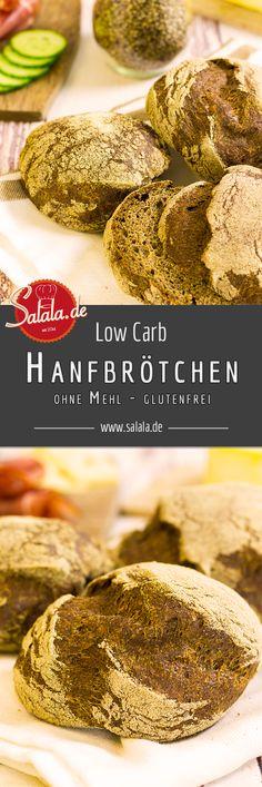 Low Carb Hanfbrötchen - by salala.de - Low Carb Brötchen Semmeln Schrippen Ballaststoffe Frühstück Rezept Hanfmehl Hefe ohne Mehl glutenfrei