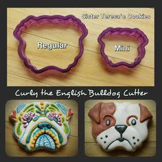 Curly the English Bulldog Cookie Cutter or by BobbisCookiesCutters