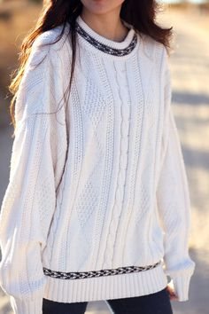 Love the detailing on this sweater.