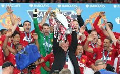 Sir Alex Ferguson and Manchester United celebrates.